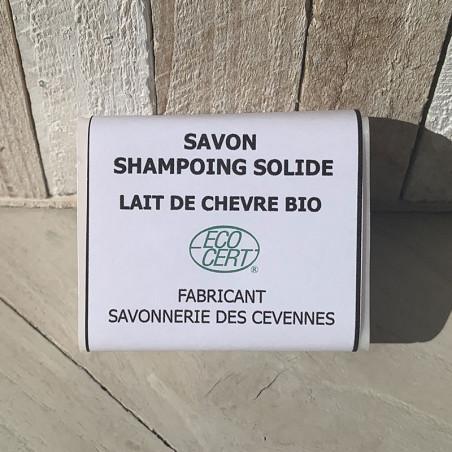 Savon shampoing solide au lait de chèvre biologique